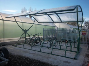 9028 - bike shelter at Riverway Nursery