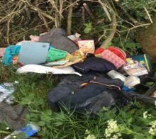 Lady fined over flytipping